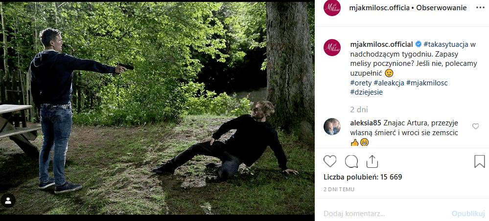 """7 października TVP2 puści kolejny odcinek """"M jak miłość"""". Facebook i Instagram żyje mrocznym trailerem. Czy to dziś Kurdej Szatan pożegna się z serialem?"""