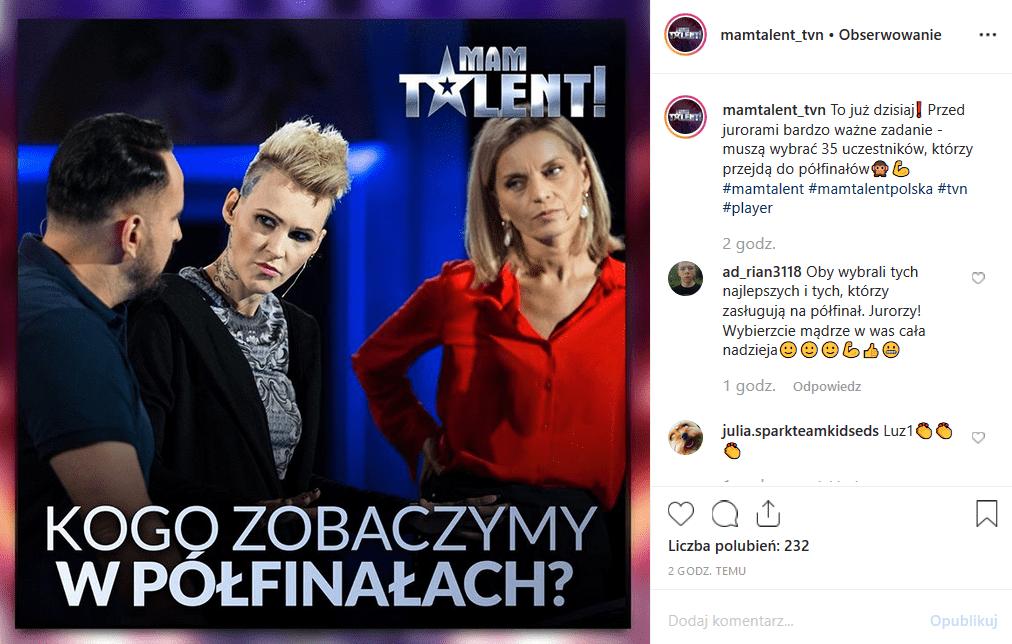 """Kogo Agnieszka Chylińska, Małgorzata Foremniak i Agustin Egurrola widzą w półfinałach """"Mam talent"""" (19 października, TVN)?"""