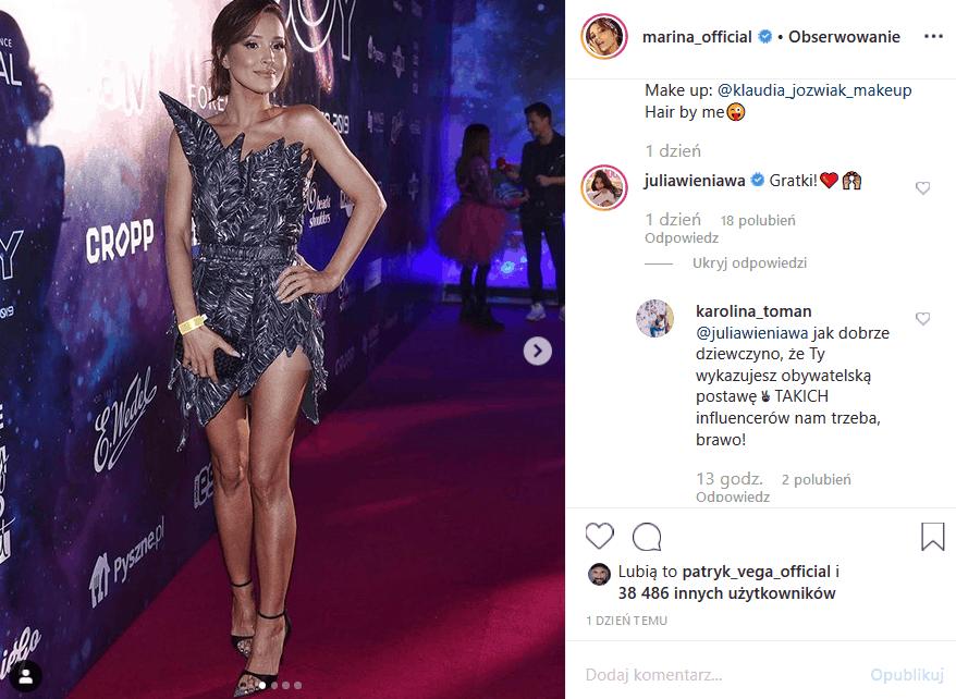 """Marina Łuczenko nie idzie na wybory! Instagram wrze po słowach piosenkarki, influencerki i aktorki (""""39 i pół""""). Co na to Wojciech Szczęsny (Juventus F.C.)?"""