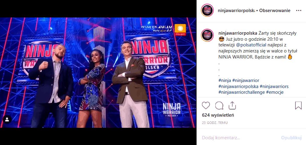 """Dziś finał """"Ninja Warrior Polska"""" (Polsat). Profil Facebook show pochwalił się finałowymi torami. Finał poprowadzi Aleksandra Szwed (""""Rodzina zastępcza"""")."""