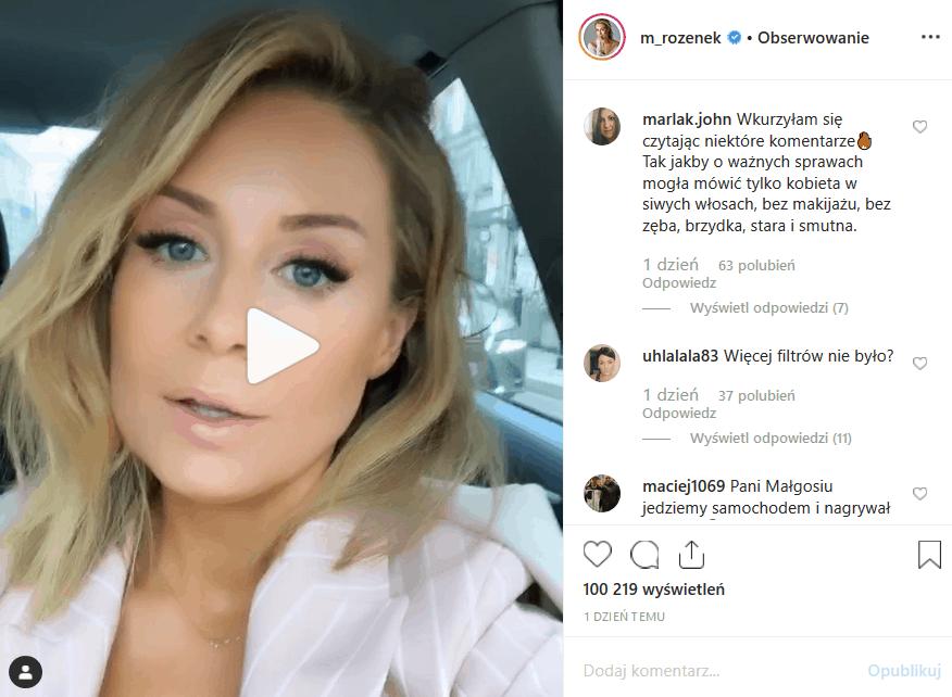 """Małgorzata Rozenek-Majdan walczy o in vitro. """"Perfekcyjna pani domu"""" na swoim profilu Instagram wciąż o tym pisze. Co na to fani połówki """"Iron Majdan""""?"""
