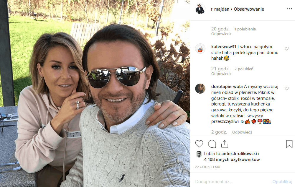 """Radosław Majdan wrzucił na Instagram foto Gosi Rozenek Majdan ze źle zastawionym stołem. Czy gwiazda """"Iron Majdan"""" (TVN) to już nie Perfekcyjna Pani Domu?"""