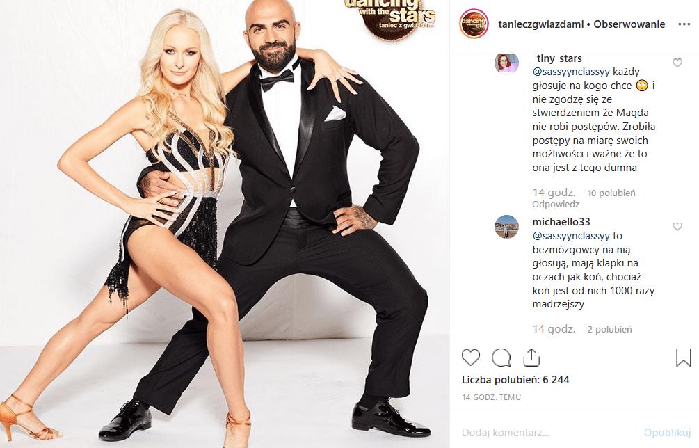 """5 odcinek show TV Polsat """"Taniec z gwiazdami"""" wygrała Barbara Kurdej Szatan. Ale to nie zwycięstwo gwiazdy """"M jak miłość"""" wzburzyło Instagram."""