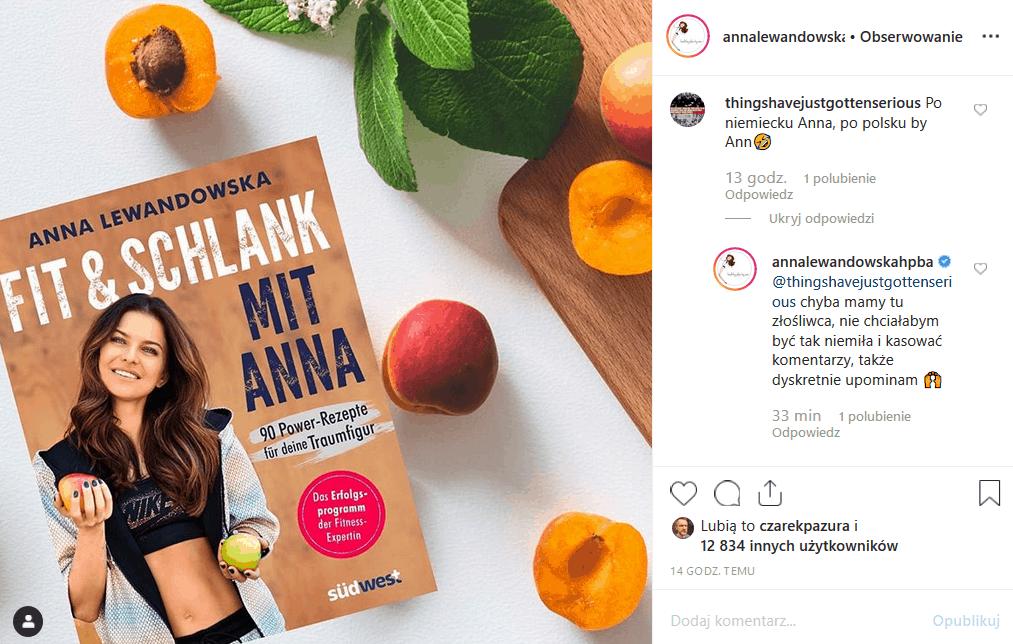 Anna Lewandowska i dieta to synonimy. Robert Lewandowski (Bayern) dał jej sławę, a ona korzysta z niej pisząc książki i reklamujac je na portalu Instagram.