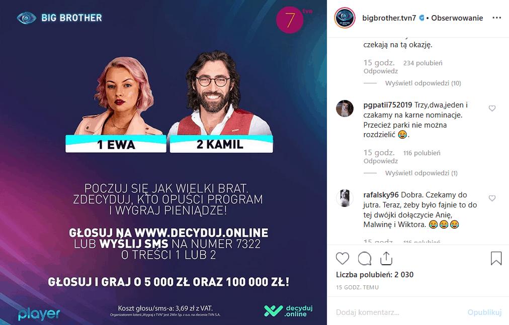"""Kamil Lemieszewski znów nominowany! Czy TVN7 pozwoli na jego odejście? Facebook i Instagram twierdzi, że nie. Przekonamy się 11 listopada w """"Big Brother""""."""