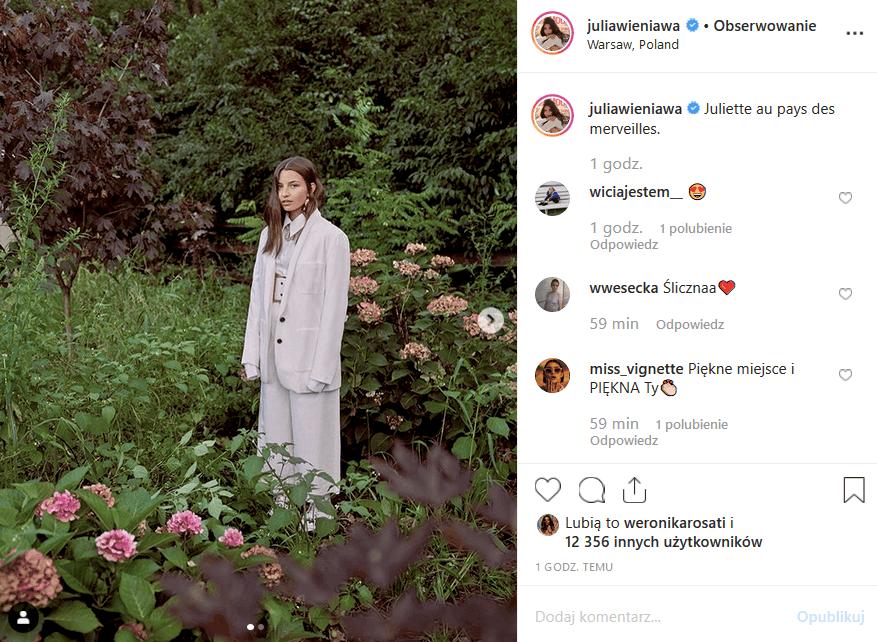 """Kolejna wpadka, jaką Wieniawa zalicza na portalu Instagram sprawia, że fani aktorki seriali """"Zawsze warto"""" (Polsat) i """"Rodzinka pl"""" nie kryją śmiechu."""