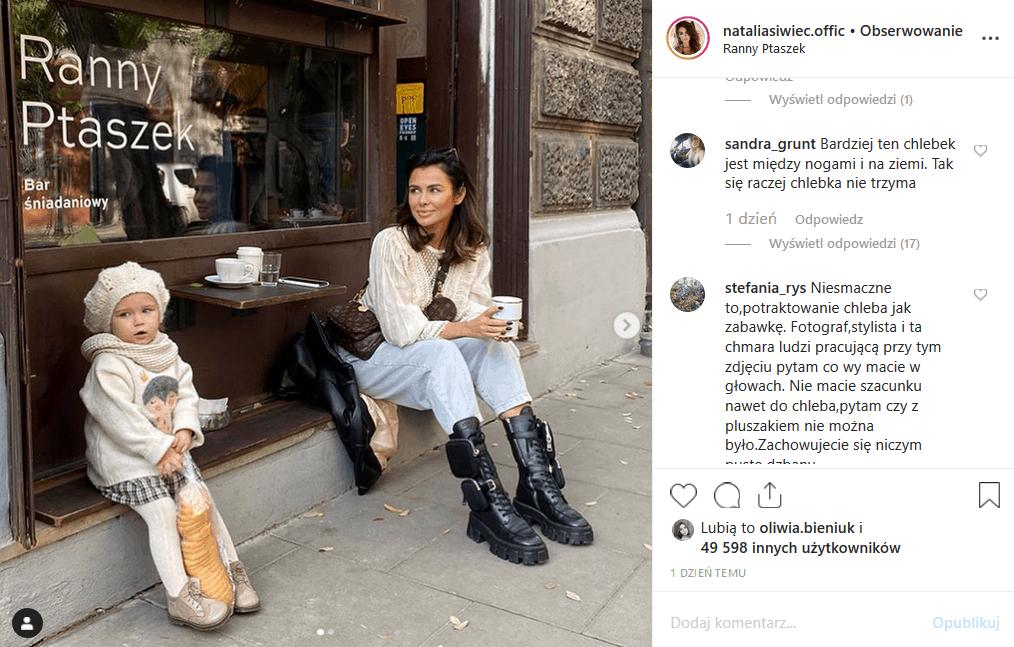 Natalia Siwiec i córka pozują w serwisie Instagram. Część fanów Miss Euro 2012 i modelki magazynów Playboy i CKM ma jej to za złe.