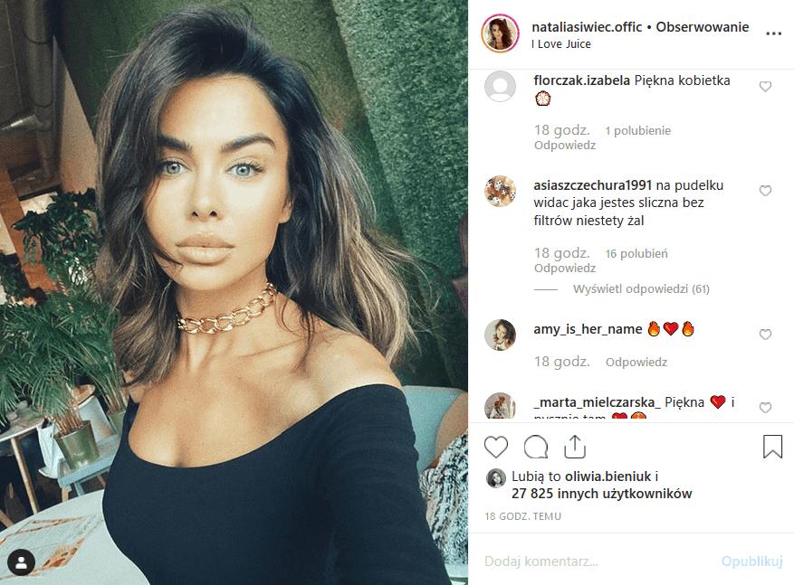 """Natalia Siwiec ma na Insta idealny wizerunek. Instagram zarzucił Miss Euro 2012, modelce Playboy i uczestniczce """"Taniec z gwiazdami"""", że jest nienaturalna."""