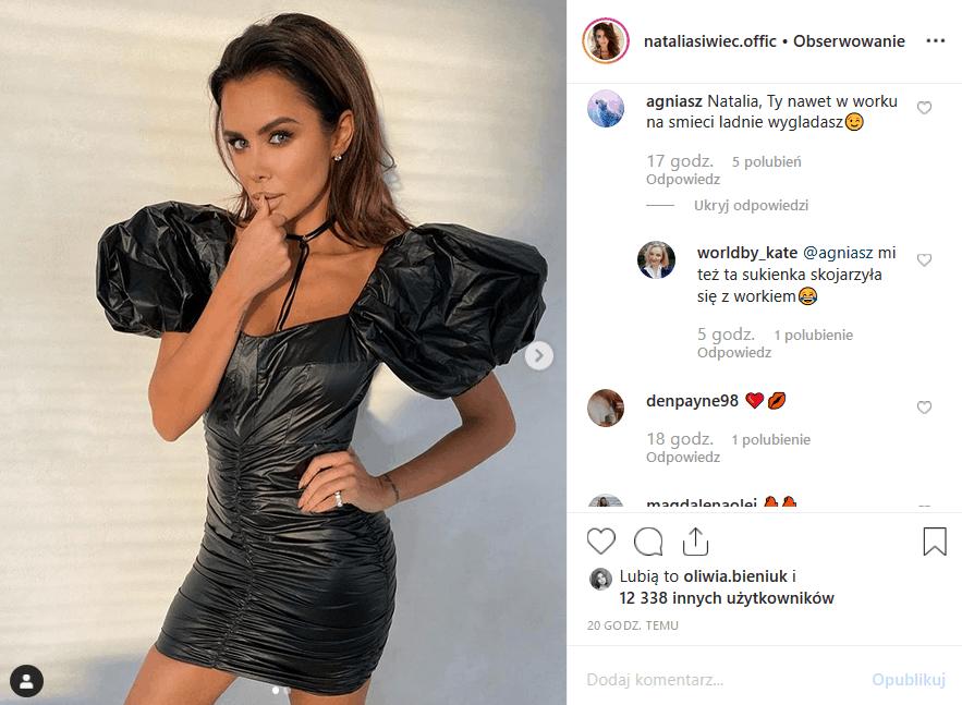 Instagram nie wie, to, co pokazała Natalia Siwiec to wpadka. Miss Euro 2012, gwiazda magazynów Playboy i CKM założyła na siebie sukienkę z worka na śmieci?