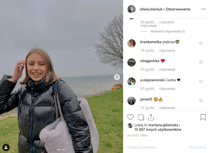 """Oliwia Bieniuk ma oczy i usta po matce (Anna Przybylska, """"Złotopolscy""""). Jarosław Bieniuk na pewno jest dumny widząc nową jej sesję ne portalu Instagram."""