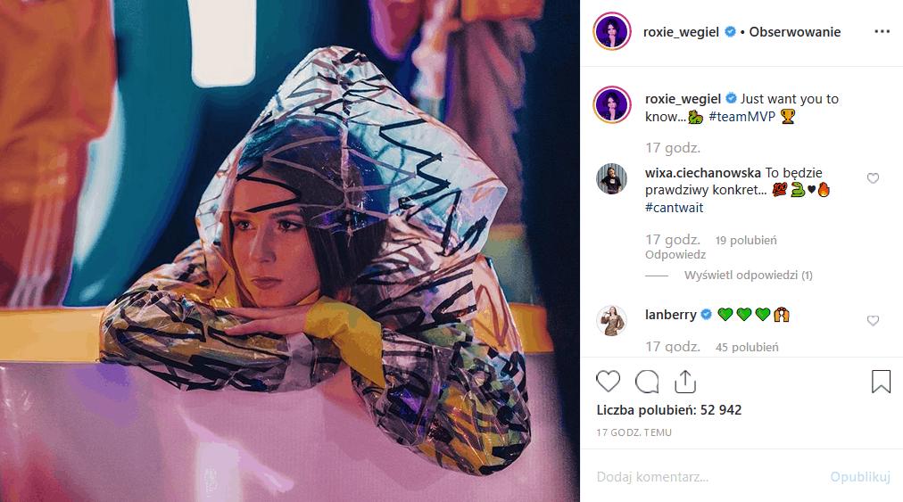 """Roksana Węgiel i wpadka? Fani Roxie mają ubaw, bo zwyciężczyni show """"The Voice Kids"""" i Eurowizja junior wrzuciła na Instagram fotkę z reklamówką na głowie."""
