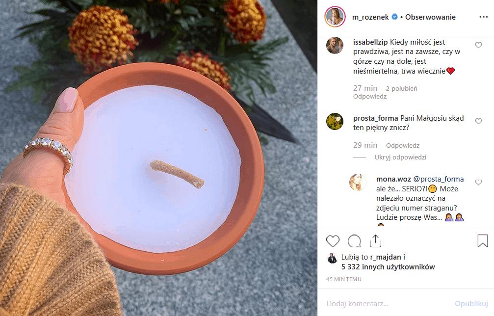 """Rozenek odwiedziła cmentarz i Instagram, ale popełniła gafę. Czym podpadła fanom Perfekcyjna Pani Domu i gwiazda swow TVN """"Iron Majdan""""?"""