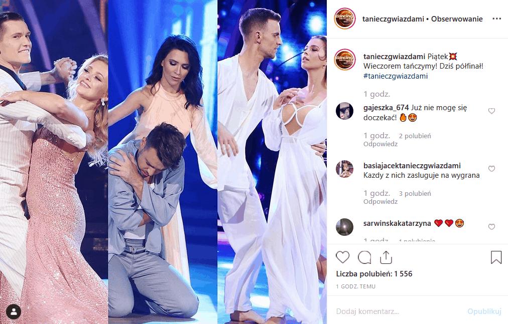 """15 listopada półfinały show """"Taniec z gwiazdami"""" (Polsat). Fani na portalach Facebook i Instagram coraz mniej chcą, by program wygrała Basia Kurdej Szatan."""