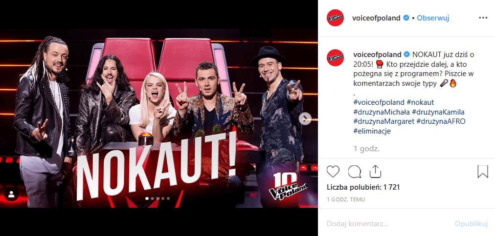"""2 listopada w show TVP2 """"The Voice of Poland"""" zobaczymy NOKAUT. Kogo zabiorą dalej Baron i Tomson, Michał Szpak, Margaret i Kamil Bednarek?"""