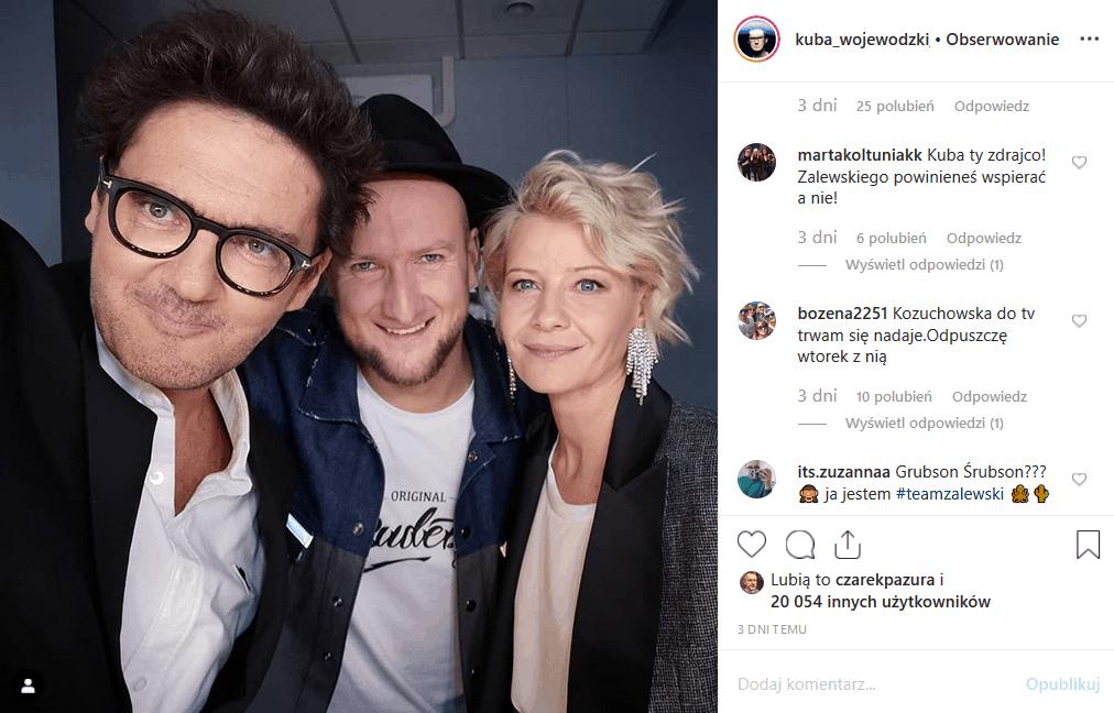 """19 listopada w """"Kuba Wojewódzki show"""" gościć będzie Grubson i Małgorzata Kożuchowska, której Instagram nie chce oglądać. Co na to Król TVN?"""
