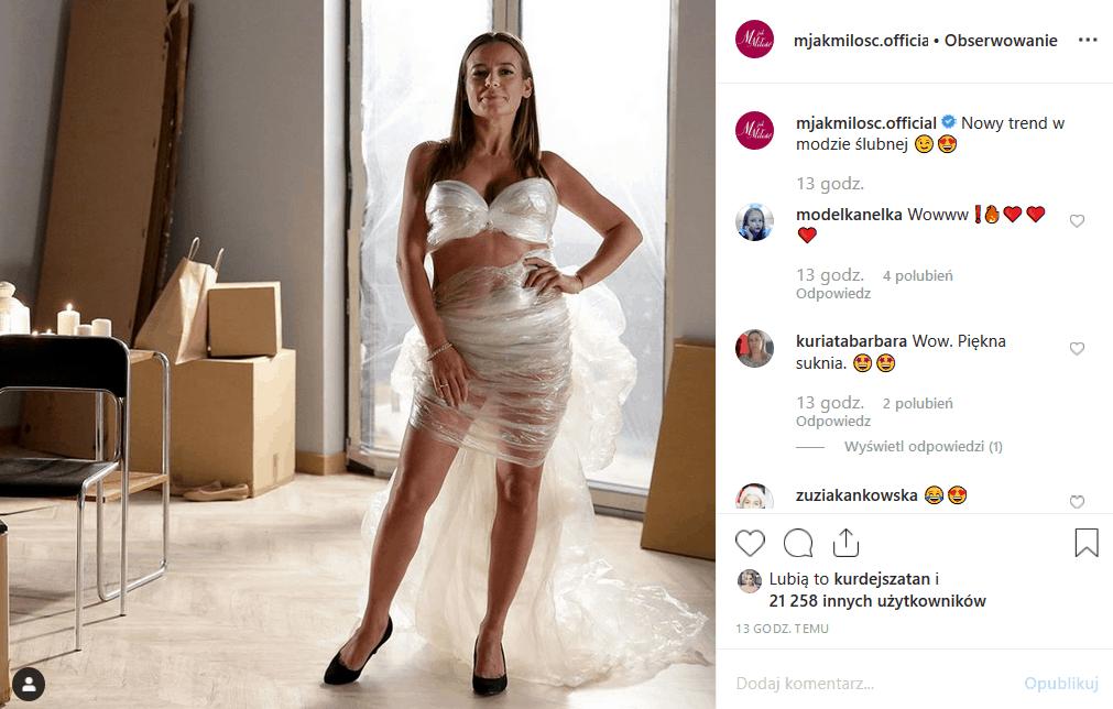 """""""M jak miłość"""" (TVP2) wrzuca na Insta fotę, gdzie Anna Mucha jest prawie nago! Aktorka serialu """"Za marzenia"""" pokazuje wiele, ale w niecodzienny sposób!"""