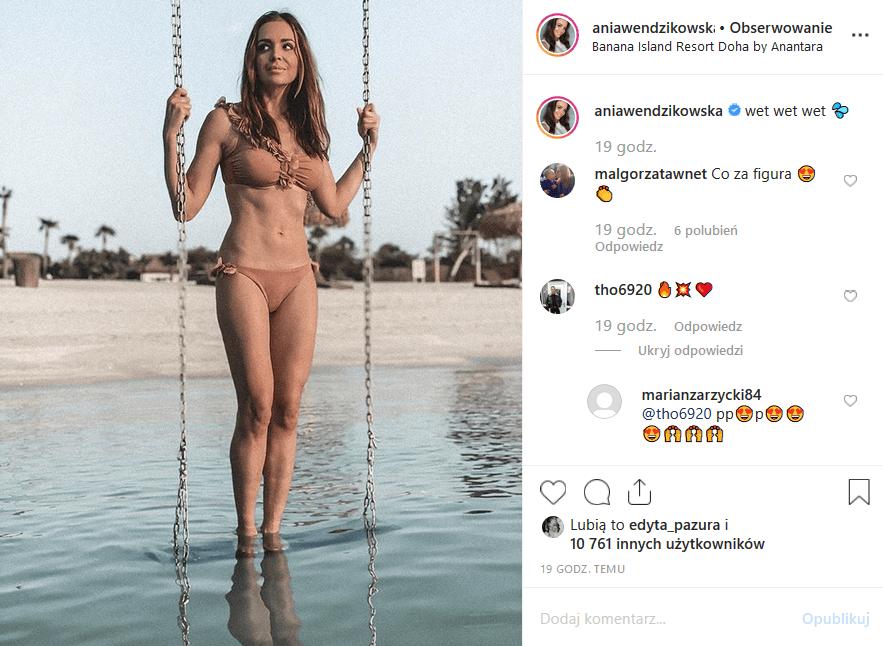 """Wendzikowska w bikini zachwyca Instagram! Gwiazda """"M jak miłość"""" (TVP2) i prezenterka TVN wrzuciła na platformę nowe zdjęcia z podróży"""
