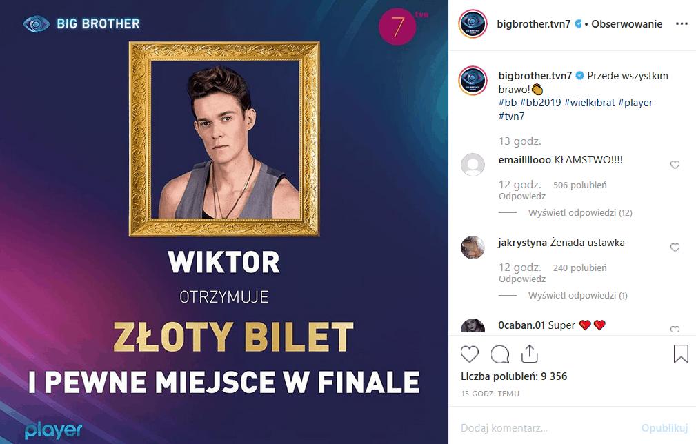 """2 grudnia """"Big Brother"""" (TVN7) zaczyna kolejny tydzień. Fani na portalach Facebook i Instagram węszą spisek. Czy Kamil Lemieszewski został oszukany?"""