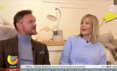 """Cezary Pazura i jego żona, Edyta Pazura, pochwalili się na Insta zdjęciem pobitej twarzy aktora filmów """"Futro z misia"""" i """"Psy 3"""". Czy wszystko u nich ok?"""