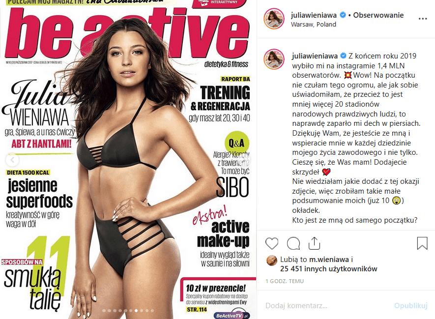 """Wieniawa w bikini świętuje 1,4 mln fanów na Insta. Gwiazda seriali """"Zawsze warto"""" (Polsat) i """"Rodzinka pl"""" (TVP2) pokazała fanom swoje sesje okładkowe"""