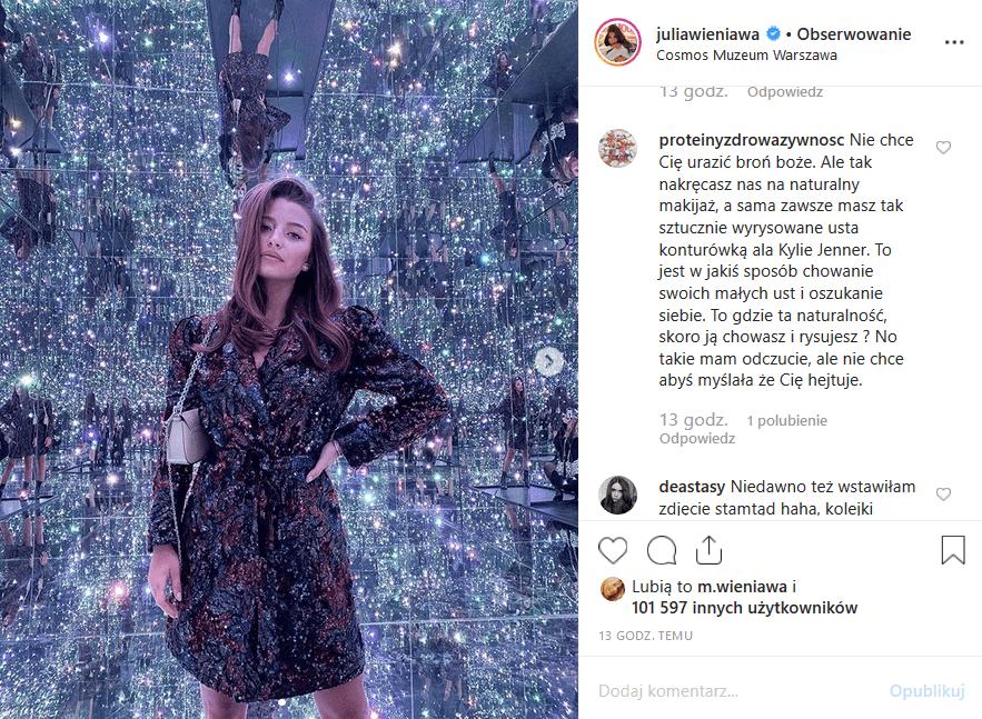 """Wieniawa zaatakowana na Insta! Fanka gwaizdy seriali """"Zawsze warto"""" (Polsat) i """"Rodzinka pl"""" (TVP2) oskarżyła gwiazdę o hipokryzję"""