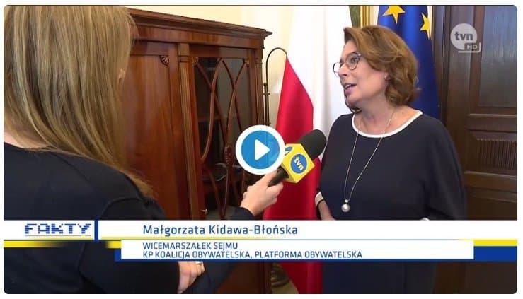 Kidawa Błońska chwali Kaczyńskiego - hit internetu. Małgorzata Kidawa Błońska zachwala Jarosława Kaczyńskiego przy kamerach TVN?