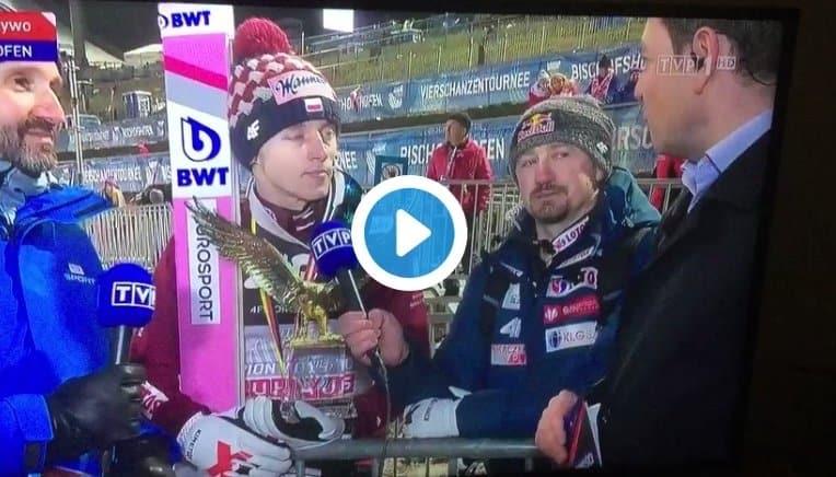 Dawid Kubacki. wywiadto Zwycięzca Turnieju Czterech Skoczni dał wywiad dla TVP. To co się jednak tam wydarzyło na długo pozostanie w pamięci