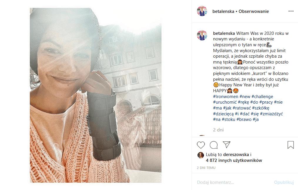 """Alżbeta Lenska (""""Przyjaciółki"""", """"Ojciec Mateusz"""", Pierwsza miłość"""") znów w szpitalu. Gwiazda poinformowała o tym fanów na Insta. Co się stało?"""