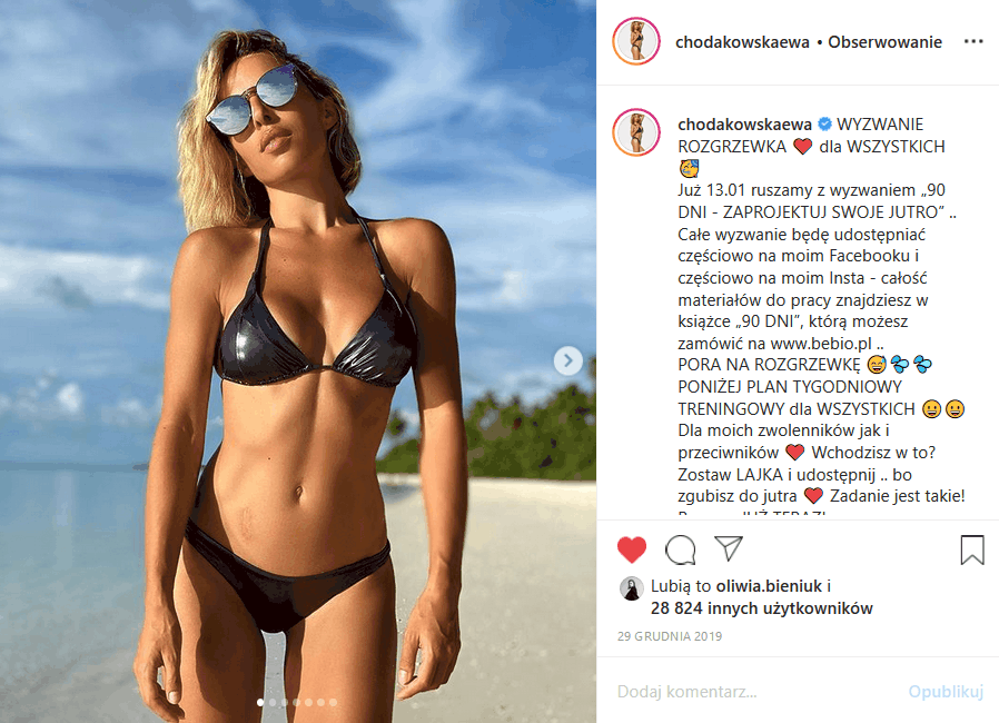 """Ewa Chodakowska w bikini podbija Instagram, bo trenerka i prezenterka (""""Dance, Dance, Dance"""", """"Pytanie na śniadanie"""", """"Dzień dobry TVN"""") ma piękne ciało"""