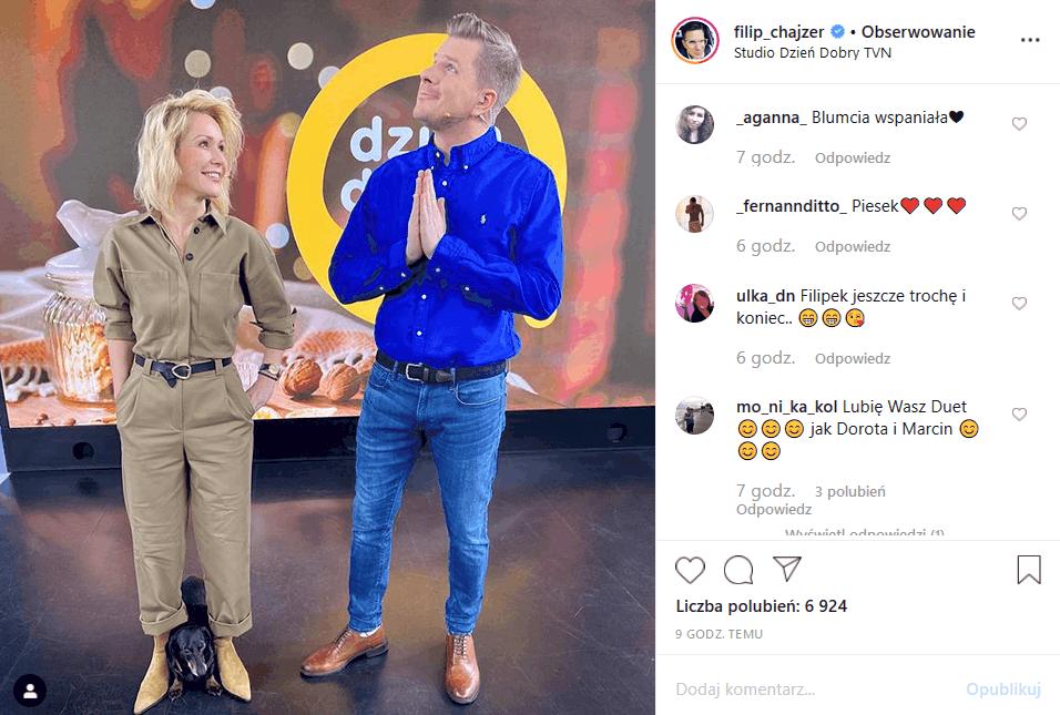 """Filip Chajzer (""""Dzień dobry TVN"""") ma ostatnio ciężko na portalach Instagram i YouTube ale nie chodzi tu o """"Wchodzę w to"""" tylko o genezę słowa """"chajzerować"""""""