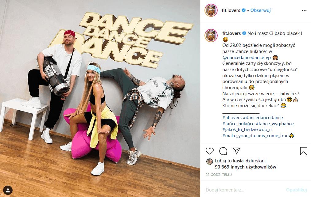 """Fit Lovers w """"Dance Dance Dance"""" (TVP2)!. Zatańczy też Rafał Mroczek, który wygrał """"Taniec z gwiazdami"""". W udziału zrezygnowała za to Ewa Chodakowska."""