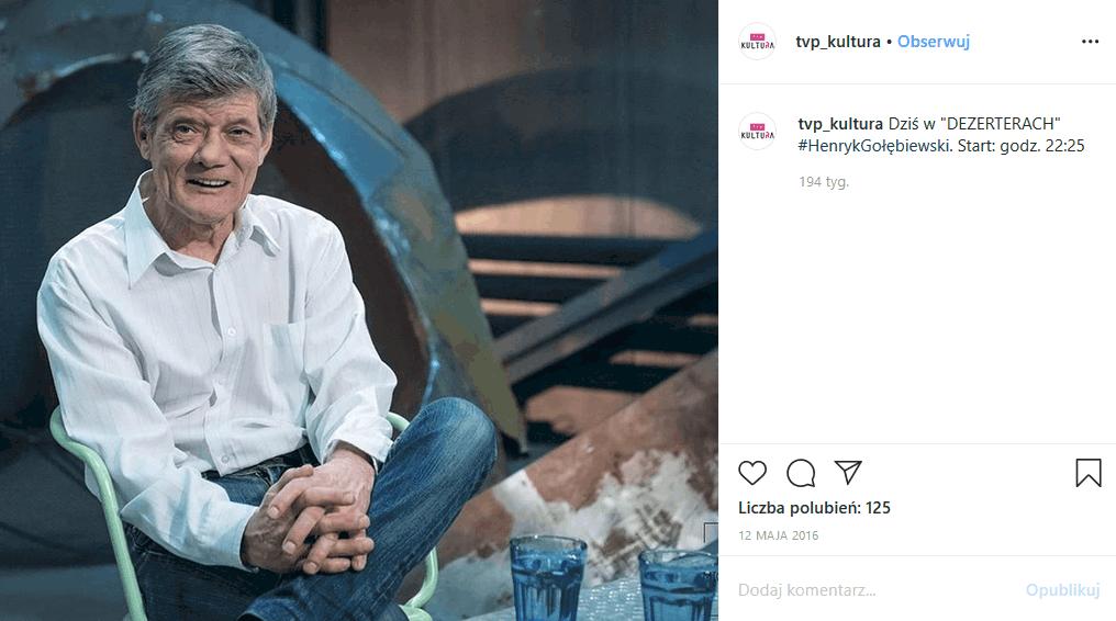 """Henryk Gołębiewski, gwiazda TVN i Polsat (""""Świat według Kiepskich"""") jest chory na alkoholizm. Choroba nie raz psuła mu plany, ale Gołębiewski wciąż walczy"""