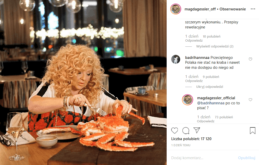 """Magda Gessler dodała na Insta fotkę, za którą spadła na nią krytyka. Co zrobiła Królowa TVN, jurorka """"MasterChef"""" i prowadząca """"Kuchenne rewolucje""""?"""