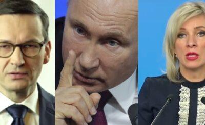 Rosja oskarża Morawieckiego o kłamstwa historyczne na temat II wojny światowej Maria Zacharowa atakuje za artykuł jaki Mateusz Morawiecki napisał w Politico