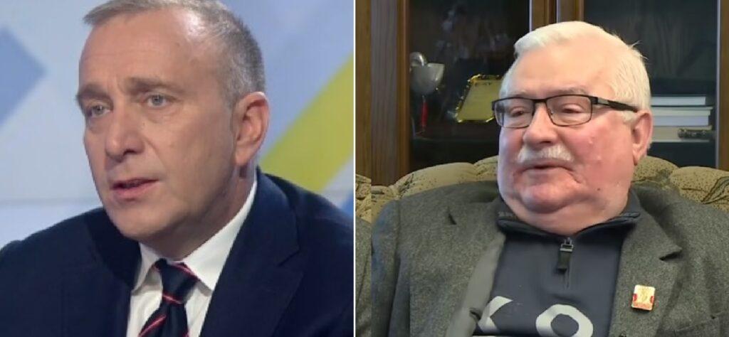 """Wałęsa zaatakował Schetynę. Lech Wałęsa stwierdził, że Grzegorz Schetyna to zdrajca, bo gdy były prezydent """"walczył"""", ten drugi dołączył do Morawieckiego"""