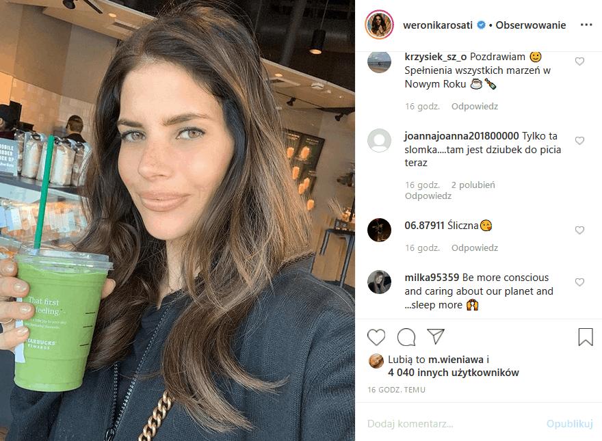 """Weronika Rosati ma selfie z plastikiem, a w dzisiejszych czasach to wpadka. Fani na Insta skrytykowali gwiazdę """"Zawsze warto"""" (Polsat) i """"M jak miłość"""""""