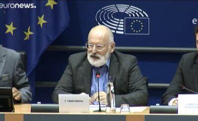 Franz Timmermans i neutralność klimatyczna: Polska opozycja oskarża rząd PiS o brak przystąpienia do pakietu o neutralności klimatycznej. Unia Europejska...