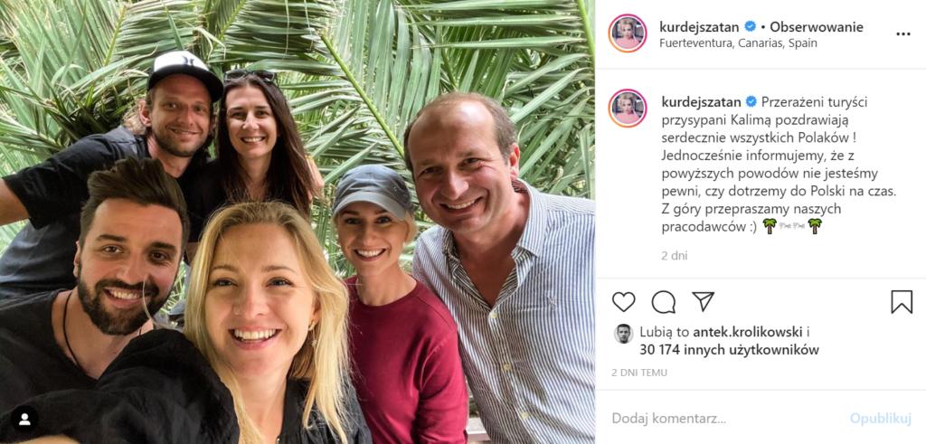 Lecąc wraz z mężem na wakacje Barbara Kurdej-Szatan nie spodziewała się, że spotkają ją problemy, jest tam także Robert Górski, pokazała to na Instagram.