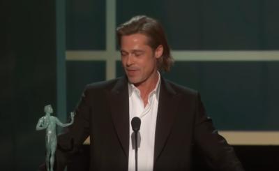 Brad Pitt zażartował z pary królewskiej, ale żart dotknął drażliwego tematu, jakim jest Megxit, książę Harry i Meghan, a para królewska nie była szczęśliwa