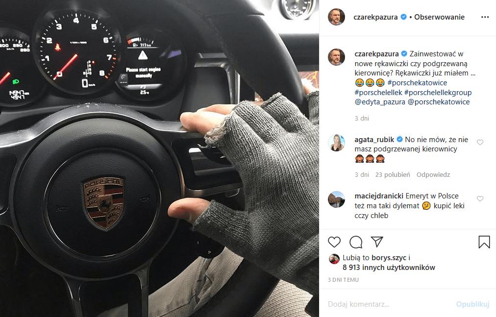Cezary Pazura zarabia dużo (filmy, standup, Youtube), więc stać go na nowe Porsche, którym pochwalił sie na Insta, ale zaliczył wpadkę i przeżył dramat