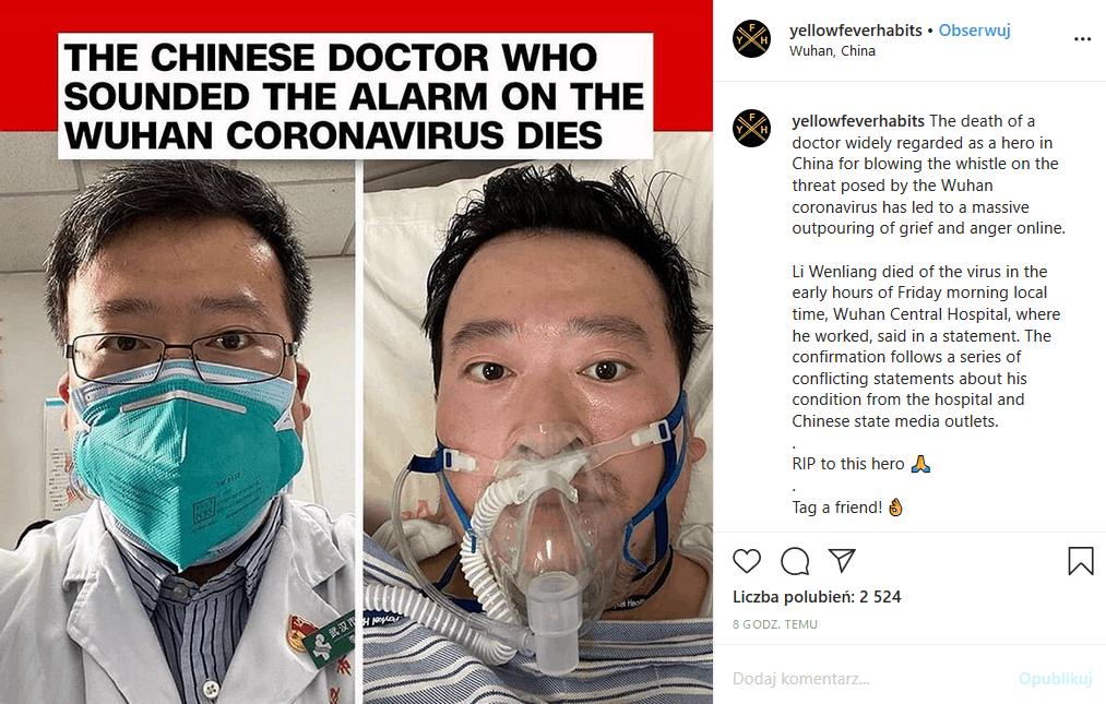 Najnowsze dane o epidemii koronawirusa: liczba ofiar 363, ilość zakażonych 31161. Trzeba się liczyć z tym, że koronawirus z Wuhan przyniesie dalsze zgony