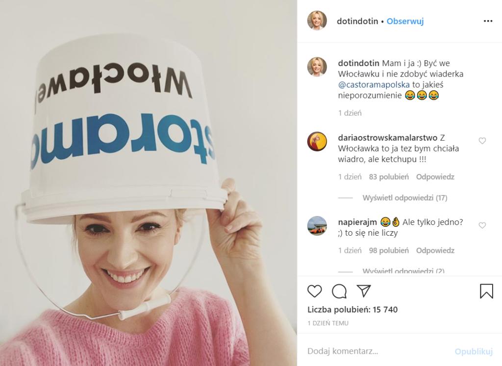 Dorota Szelągowska (Dorota was urządzi, TVN Style) wyśmiała klientów nowo otwartej Castoramy, chodzi o sklep Castorama Włocławek, który rozdawał wiaderka.
