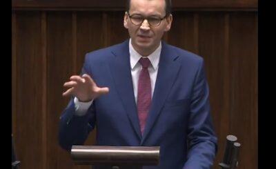 Tarcza Antykryzysowa: Koronawirus w Polsce wywołał kryzys i zmusił rząd do działania, Mateusz Morawiecki wygłosił przemówienie, mówił o Unii Europejskiej