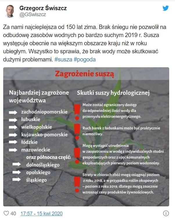 Po koronawirusie przyjdzie susza hydrologiczna w Polsce oraz stan zagrożenia pożarowego, Straż Pożarna już nad tym pracuje, czy czeka nas kataklizm?