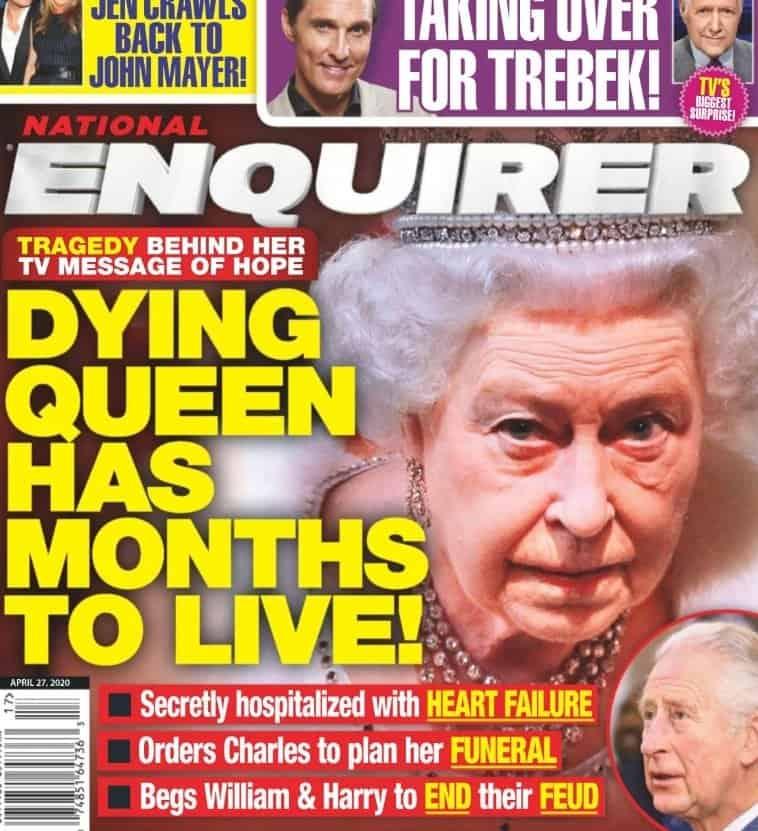 """""""Królowa Elżbieta umiera"""" - Szokujące doniesienia wydał tabloid, stwierdzono że królową UK trawi śmiertelna choroba, to nie pierwszy raz gdy ja usmiercają"""