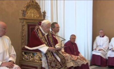 Papież Benedykt XVI stwierdził w najnowszym wywiadzie, że antychryst przybył, a dowodem na to są małżeństwa homoseksualne
