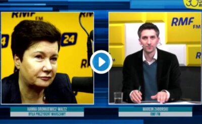Hanna Gronkiewicz-Waltz wsypała kolegów na atenie radia RMF FM, członkini PO postanowiła poruszyć temat jakim są podpisy na kandydatów na prezydenta