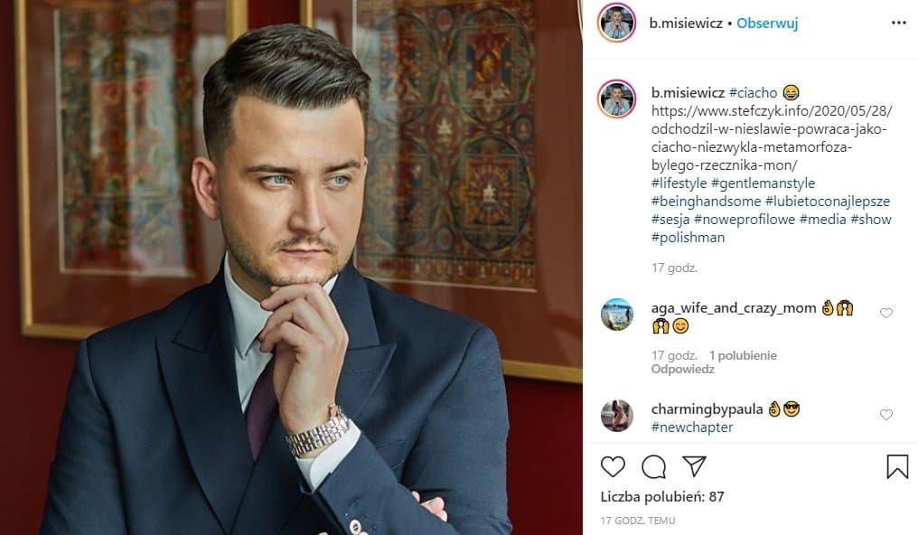 Bartłomiej Misiewicz zmienił się nie do poznania, mocno schudł, zmienił sposób ubierania, nowe zdjęcia na Instagram robią wrażenie  - metamorfoza roku