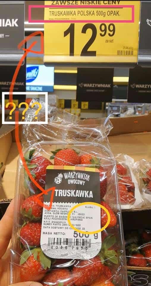 Kolejny skandal w biedronce, chodzi o truskawki. Klienci zostali perfidnie oszukani, a to wprowadzeni w błąd na pewno nie pomoże wizerunkowi
