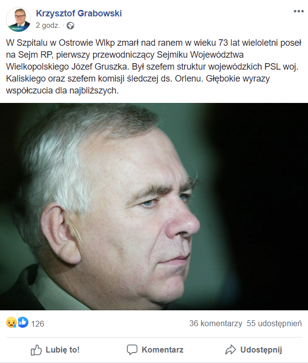 Józef Gruszka, wieloletni poseł na Sejm nie żyje. Mężczyzna odszedł nagle. Informacja bardzo szybko rozeszła się w mediach.